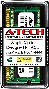 A-Tech 4GB RAM for ACER Aspire E1-531-4444 | DDR3 1333MHz SODIMM PC3-10600 204-Pin Non-ECC Memory Upgrade Module