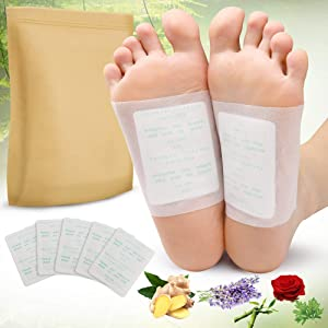 Foot Pads, 100PCS Relief Stress Foot Pads and 100PCS Adhesive Sheets for Foot Care Removing Impurities, Relieve Stress Improve Sleep (White)