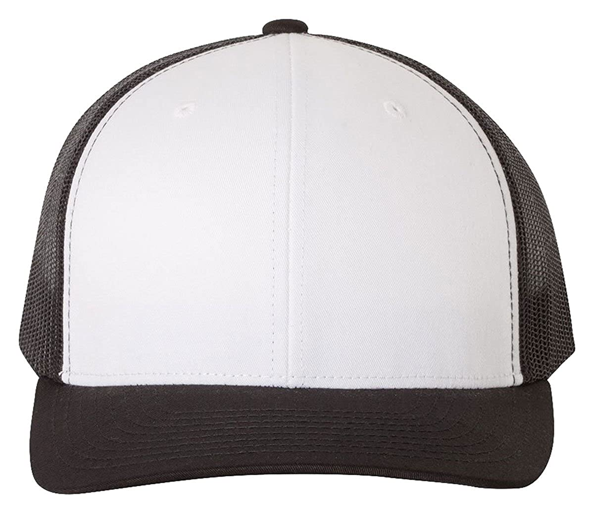 da989b811 Yupoong Retro Trucker Hat & 2-Tone Snapback - 6606, by Flexfit (One Size,  Black/White/Black)