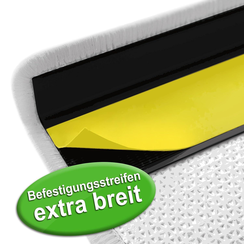 Läufer mit Pinselstrich Muster   Schwarz Schwarz Schwarz   Qualitätsprodukt aus Deutschland   GUT Siegel   kombinierbar mit Stufenmatten   3 Breiten und 18 Längen (80 x 350 cm) 5c181e