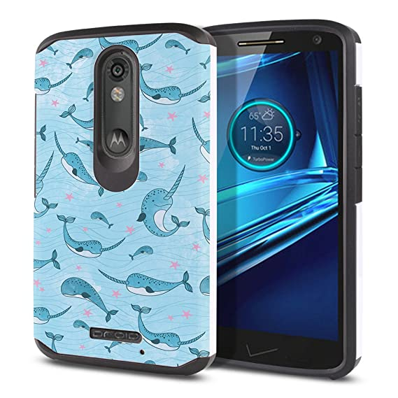 FINCIBO Kinzie XT1585 Case, Dual Layer Hard Back Hybrid Protector Cover Anti Shock TPU Skin