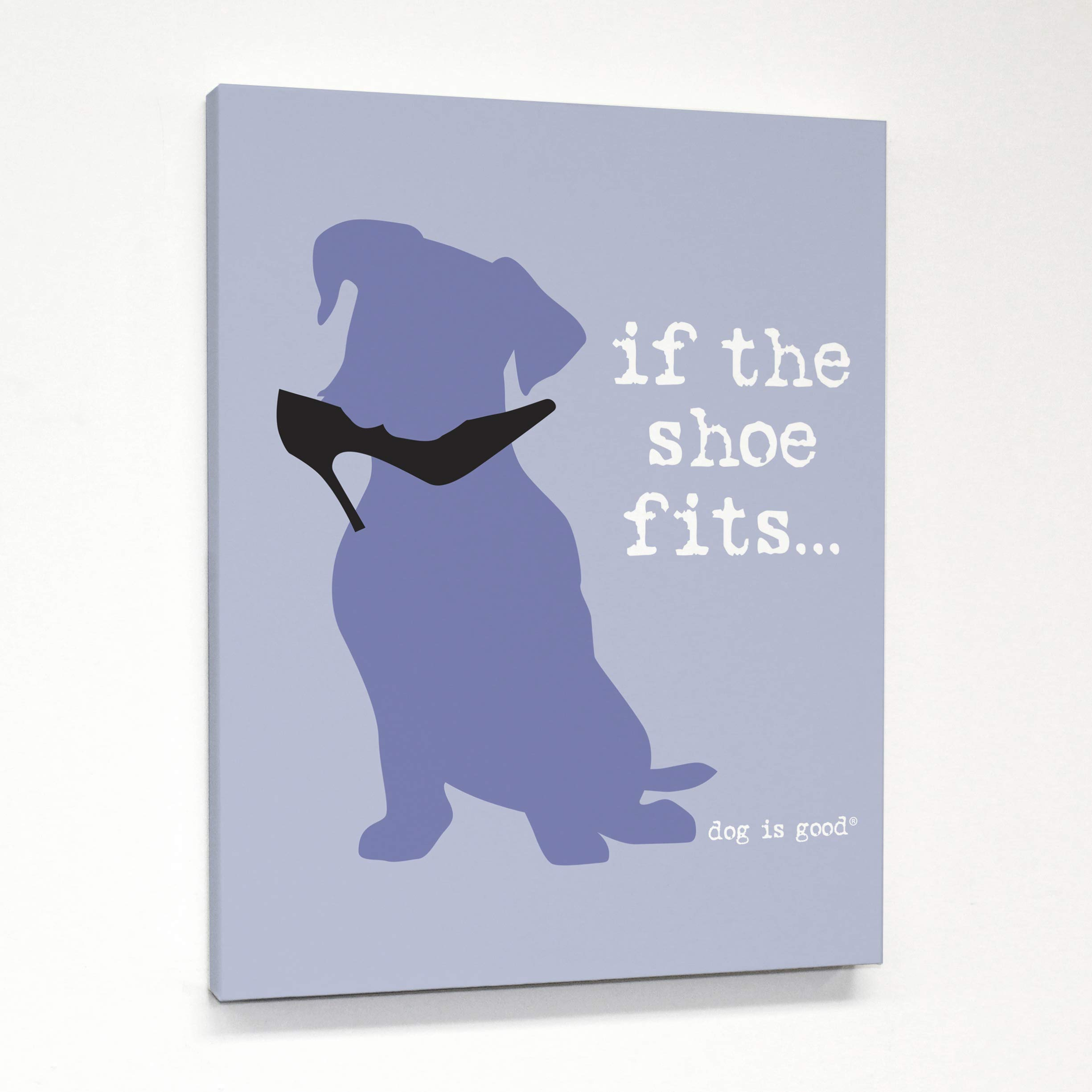 One Bella Casa Shoe Fits Canvas by Dog is Good 11 X 14