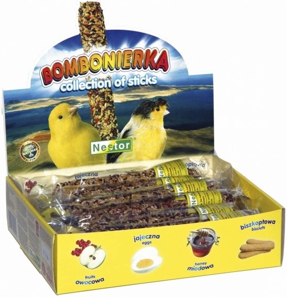 Canarios pájaro Forro Fuga erbissen 12akku-knabber Barras Mix
