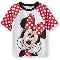 Disney Toddler Girls Minnie Mouse Rash Guard Shirt Top Swimwear