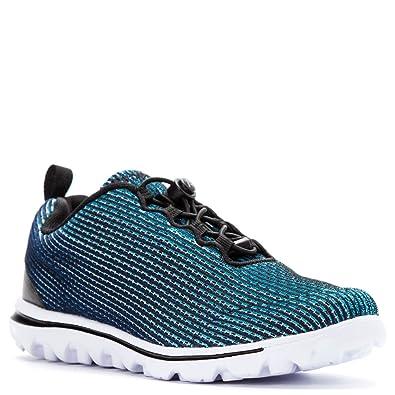 Propet Women's TravelActiv Xpress Walking Sneakers, Blue Mesh, EVA, ...