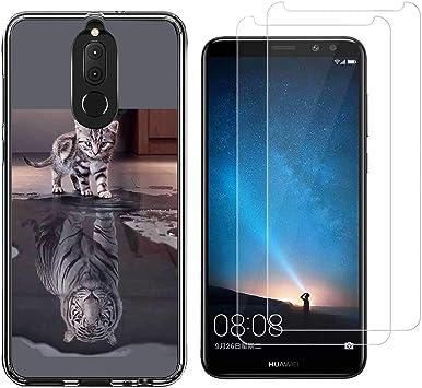 Reshias Huawei Mate 10 Lite Funda Gato y Tigre Soft Transparente ...