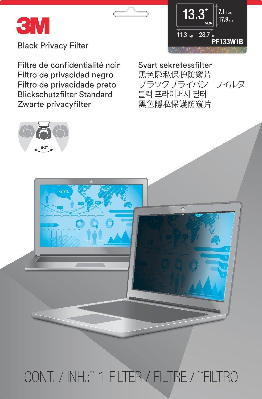 3M PF13.3W - Filtro para pantalla (33,8 cm, 13,3, pantalla 16:10, para portátil), color negro: Amazon.es: Informática