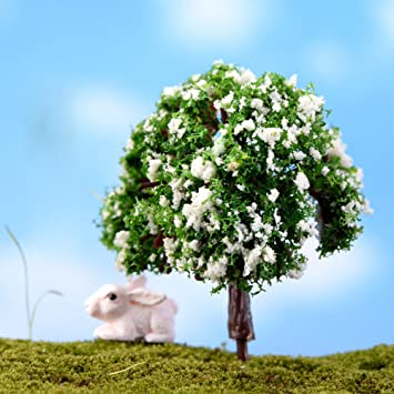 Amazon Com Miniature Fairy Diy Mini Tree Plants House Dollhouse
