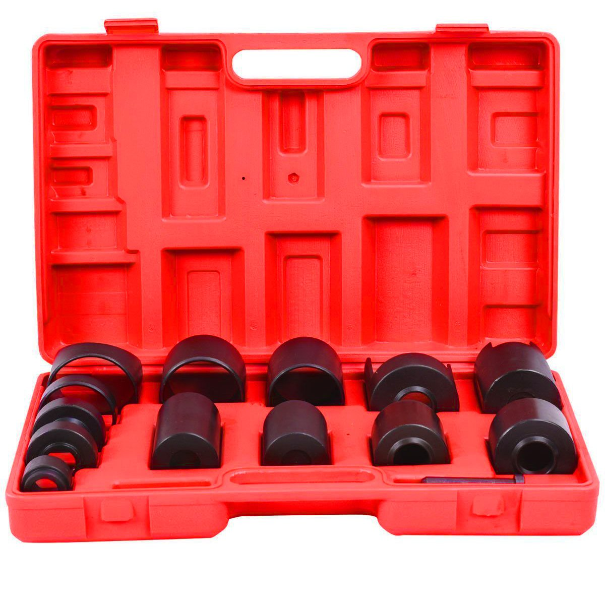 Goplus 14 Pc Master Ball Joint Remover Installer Adaptors Kit Receiving Tube