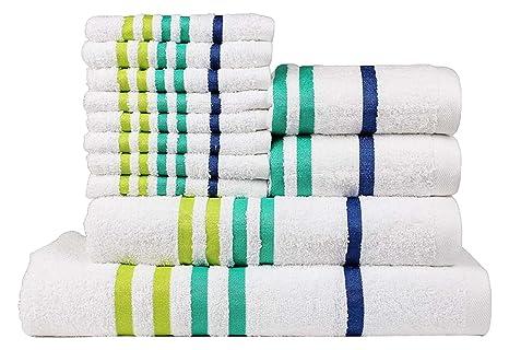 Casa Copenhagen Exotic Colección 475 g/m², Juego de 12 toallas de algodón (