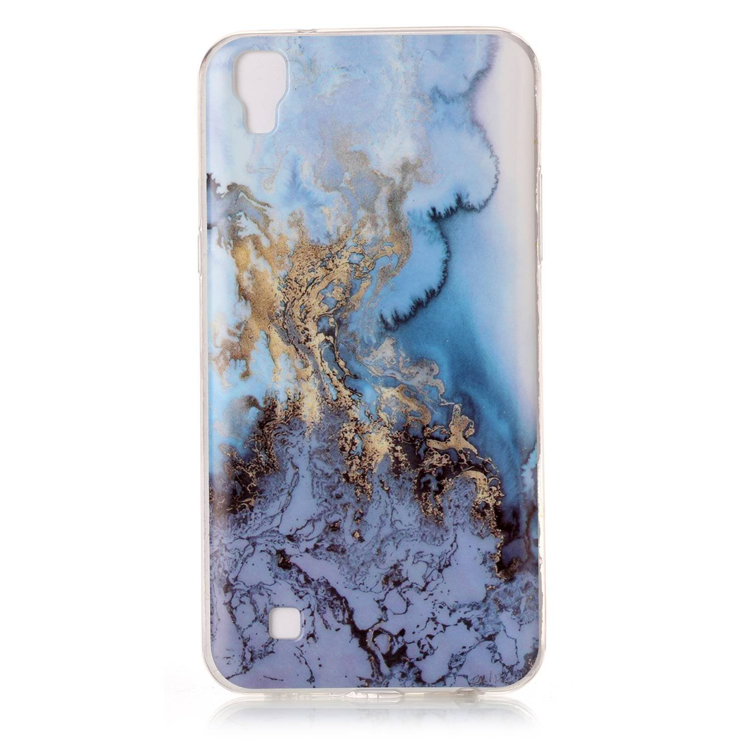 Lomogo [Marble Pattern] LG X Power Case Shockproof Anti-Scratch Silicone Case Cover for LG X Power (Colour #6)
