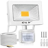 CLY 20W Foco LED Exterior Luz Cálida 3000K, Focos LED Sensor Movimiento Exterior Impermeable IP66, Lámparas Led de…