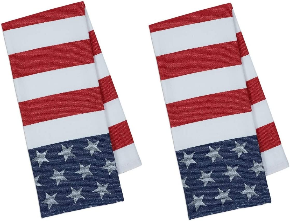 Americana Dish Towels Set of 3 for Kitchen 4th of July Kitchen Towels Patriotic Kitchen Towels Set