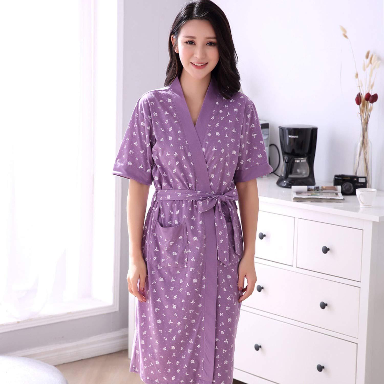 Robe Womens Shorts Bathrobe Plus Size Robe Women Kimono Floral Cotton Peignoir at Amazon Womens Clothing store: