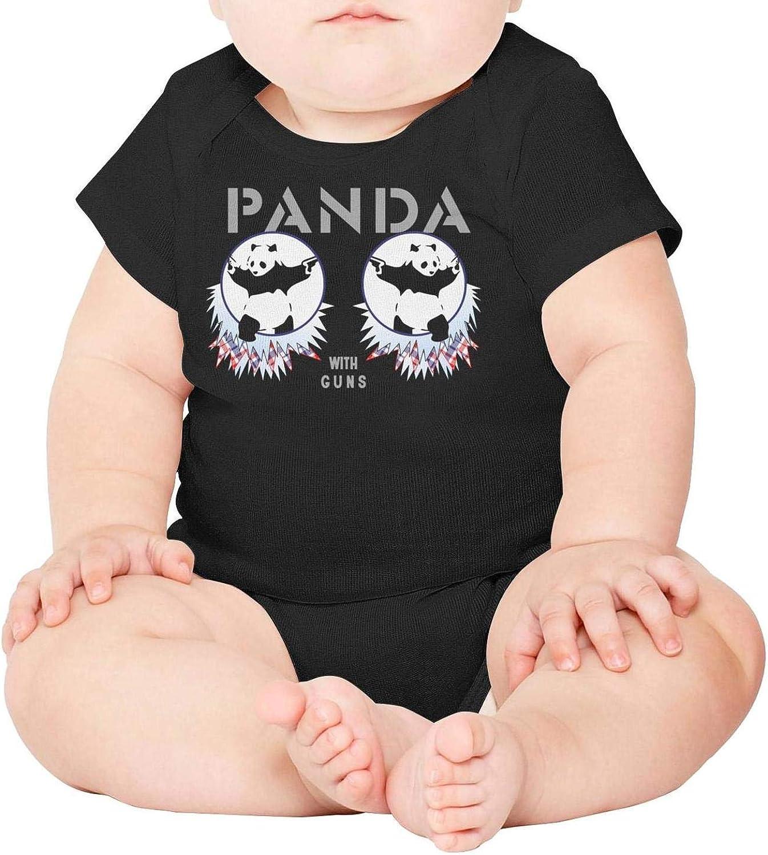 WSEDRF Funny Panda Gym Short Sleeve Baby Funny Onesies