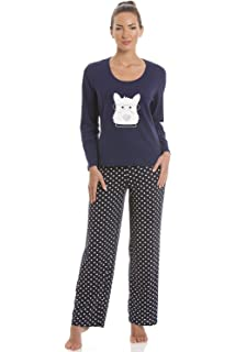 5af08acb98 Camille Womens Grey and White Striped Full Length Polar Bear Motif ...