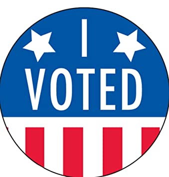image regarding I Voted Stickers Printable named I Voted Stickers/Labels - 2\