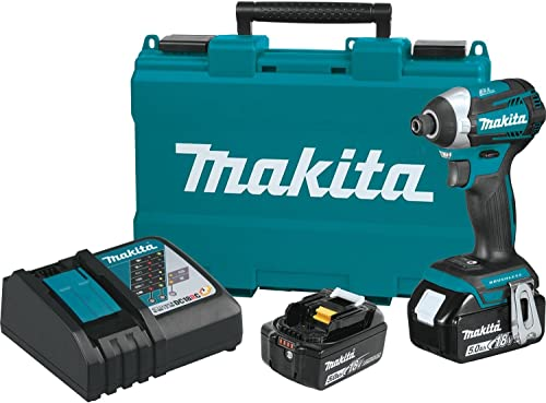 Makita XDT14T 18V LXT Lithium-Ion Brushless Cordless Quick-Shift Mode 3-Speed Impact Driver Kit 5.0Ah ,