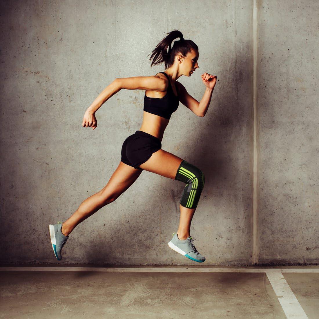 1 Paar rutschfest Sportliche Pads Kniest/ütze f/ür M/änner und Frauen Trainieren das Sportarten AIMERDAY Knieschoner Laufen Kompressionsknie-/Ärmel