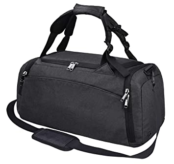 e61519b45 Amazon.com | Gym Duffle Bag Waterproof Travel Weekender Bag for Men Women  Duffel Bag Backpack with Shoes Compartment Overnight Bag 40L Black | Sports  ...