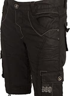 Enzo New Mens Shorts EZS257 Combat Cargo Style in Black Colour 28 to 48