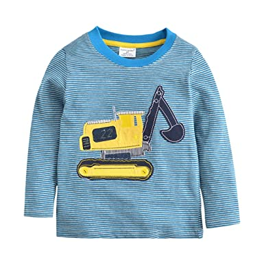 1830c163885 Tkria Little Boys Jumpers Kids Tractor Sweaters Sweatshirt Pullover ...