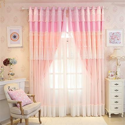 Amazon.com: Lotus Karen Sweet Korean Princess Style Curtains For ...