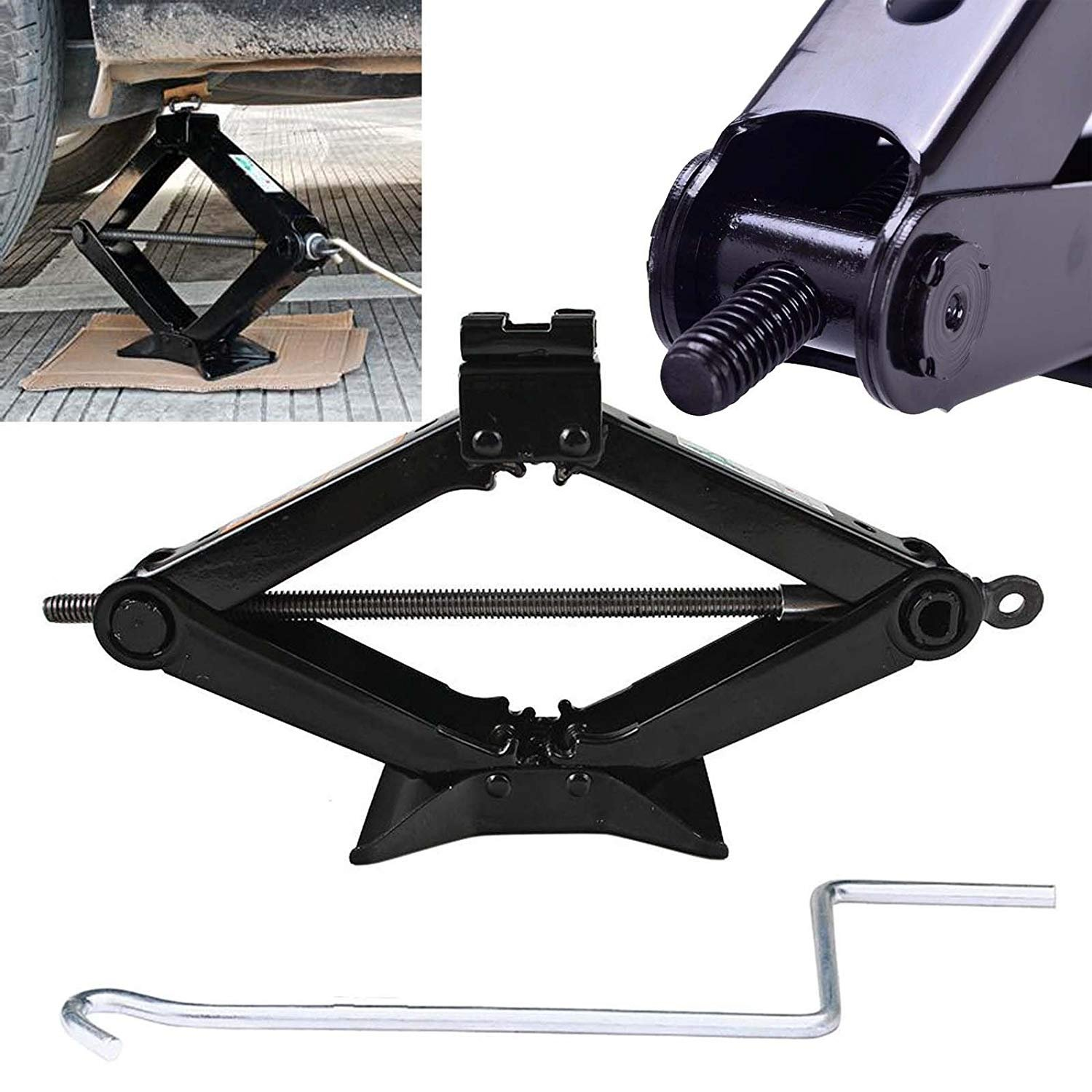 Heavy Duty Scissor Lift Jack Universal 4410 LB Capacity with Effortless Speed Handle for Car Auto SUV Truck