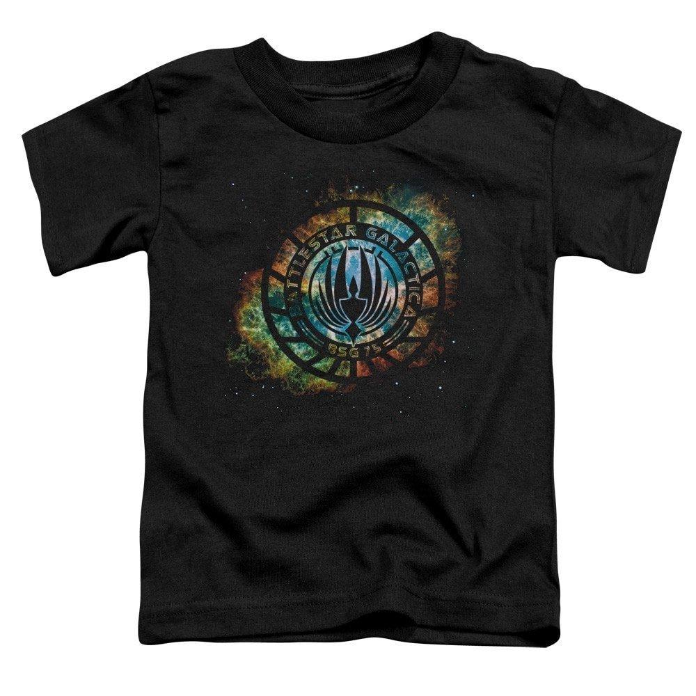 Battlestar Galactica New Emblem Knock Out T Shirt 9642