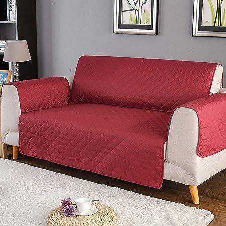 Amazon.com: Funda de sofá reversible de color sólido ...