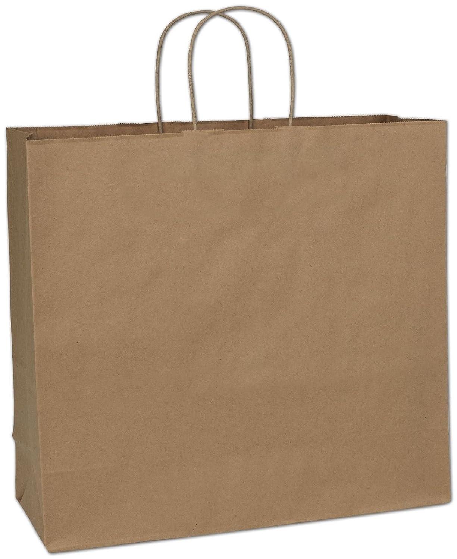 用紙Grocery Bags withハンドル、Debbie、ショッピング、商品、小売、パーティー、ギフトバッグ、パックの50バッグ 18x7x19 ブラウン B07BGJMYR5 18x7x19|ブラウン ブラウン 18x7x19