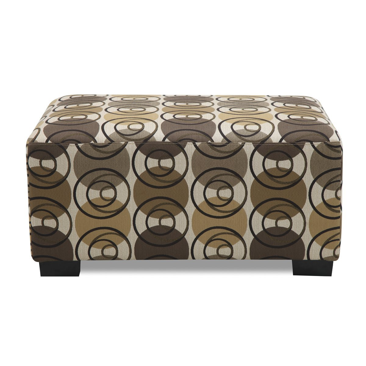 Poundex Banford Ottoman, Dark Chocolate by Poundex