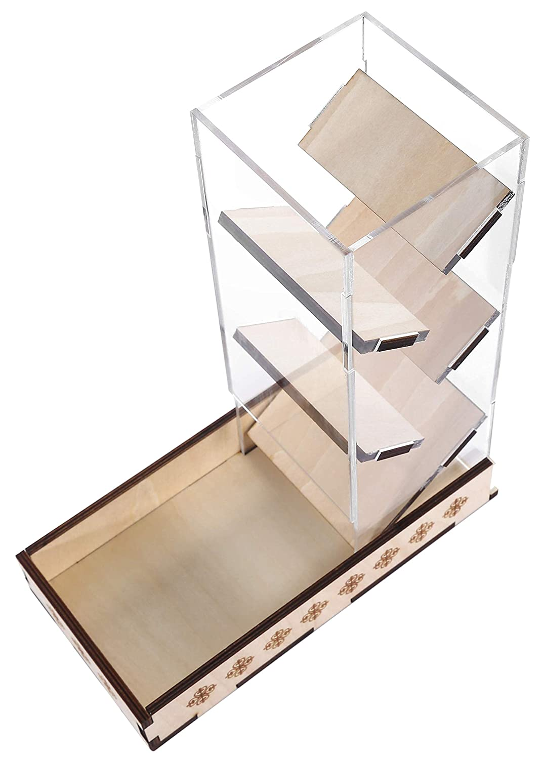 Dice Tower /& Tray Box Perfect for Gamers and Dice Tabletop Games RPGs Board Games