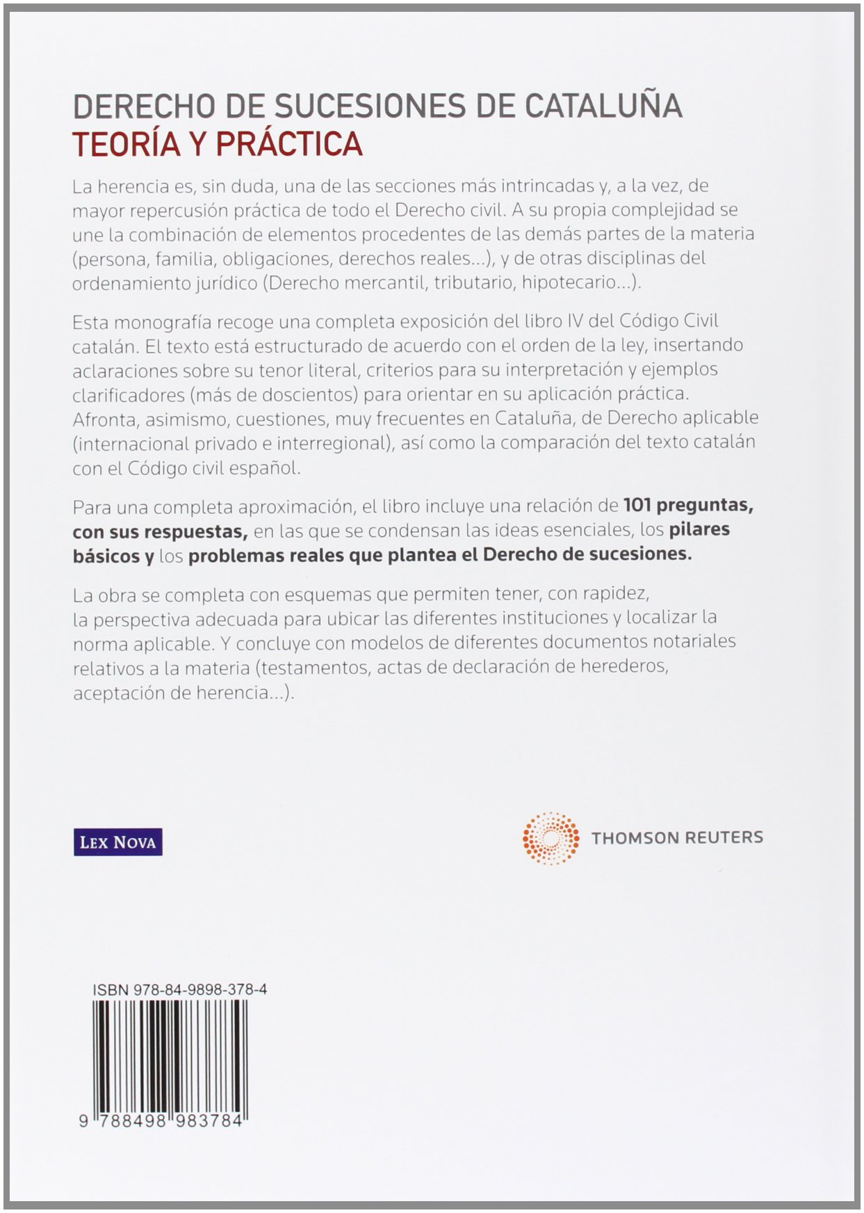 Amazon.fr - Derecho de sucesiones de Cataluña: Teoría y práctica ...