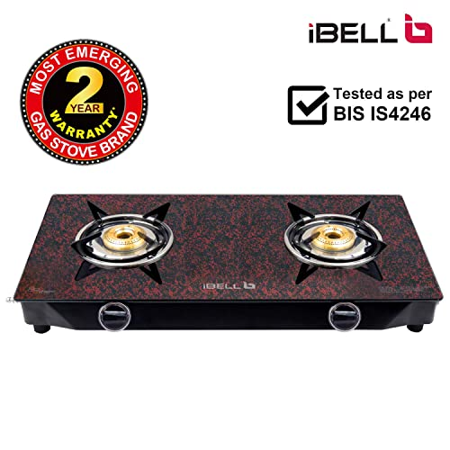 8. iBELL 02MGOLD Glass Top Gas Stove