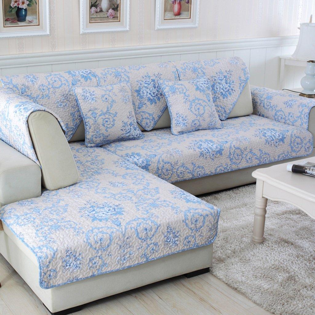 Carpet..B ASL Combinazione Antiscivolo Panno di Cotone Twill Quattro Stagioni Divano Pad Semplice Cuscino Moderna Set di Asciugamani SOS (Dimensioni   110  240CM)