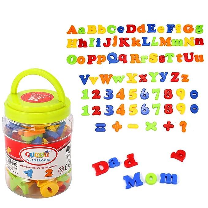 Kingso - Imanes infantiles para nevera con formas de cifras y ...