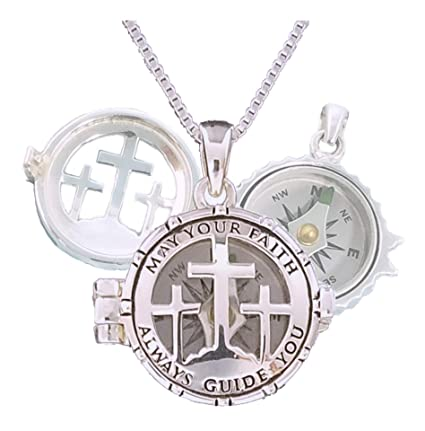 Stanley London Engraved Working Compass Necklace