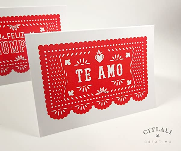Mexican valentines day cards and gifts dia de san valentin for Amo manufacturing spain