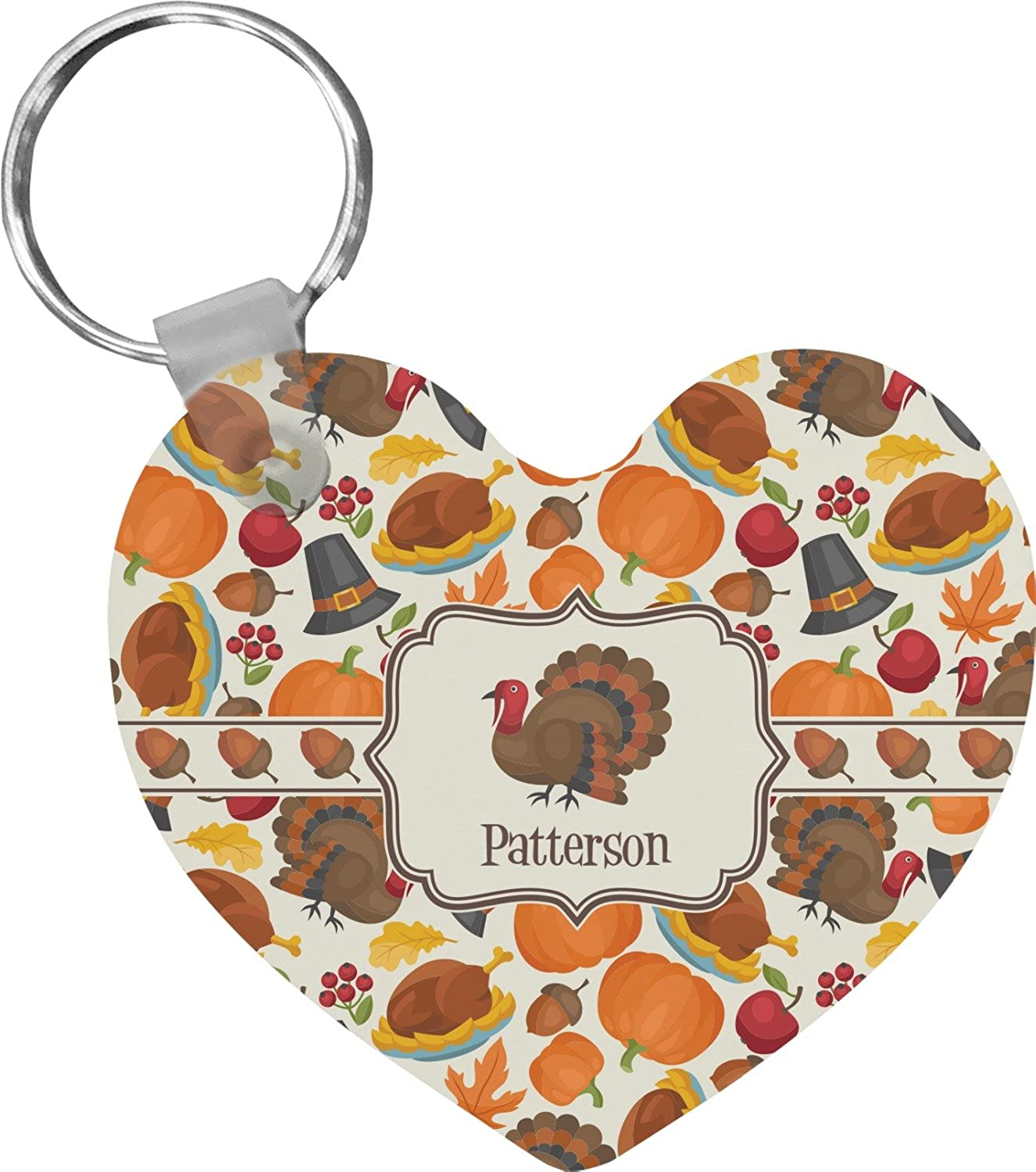 Traditional Thanksgiving Heart Keychain (Personalized)
