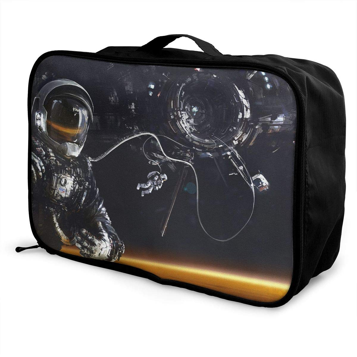 Travel Luggage Duffle Bag Lightweight Portable Handbag Abstract Astronaut Pattern Large Capacity Waterproof Foldable Storage Tote