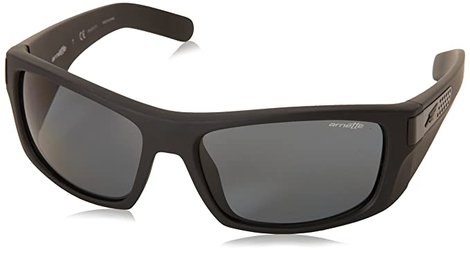 Arnette Two-bit - Gafa de sol rectangular color negro mate con lentes color gris polarizadas, 58 mm: Amazon.es: Ropa y accesorios
