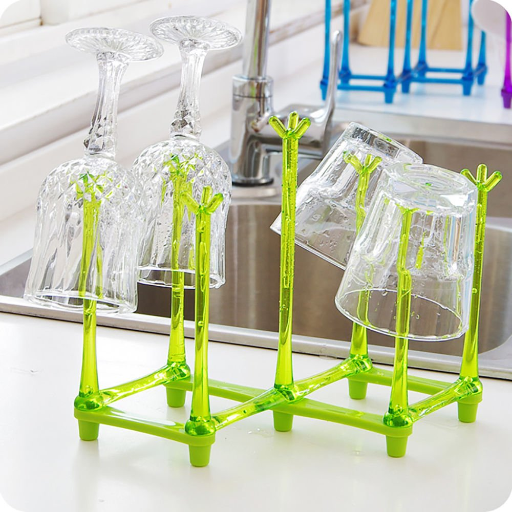 Mug Organizer Holder Cup Drying Rack Adjustable Length & Width Plastic Zondam