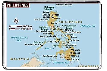 Karte Philippinen.Cfl M162 Karte Von Philippinen Kühlschrankmagnet Philippinen Reise
