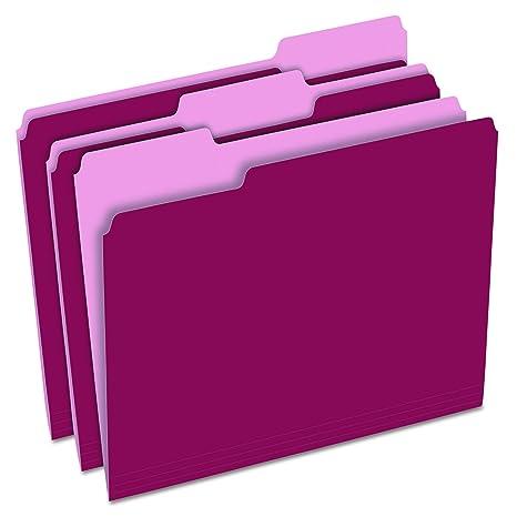 Amazon.com: Pendaflex Carpetas de archivos a color de dos ...