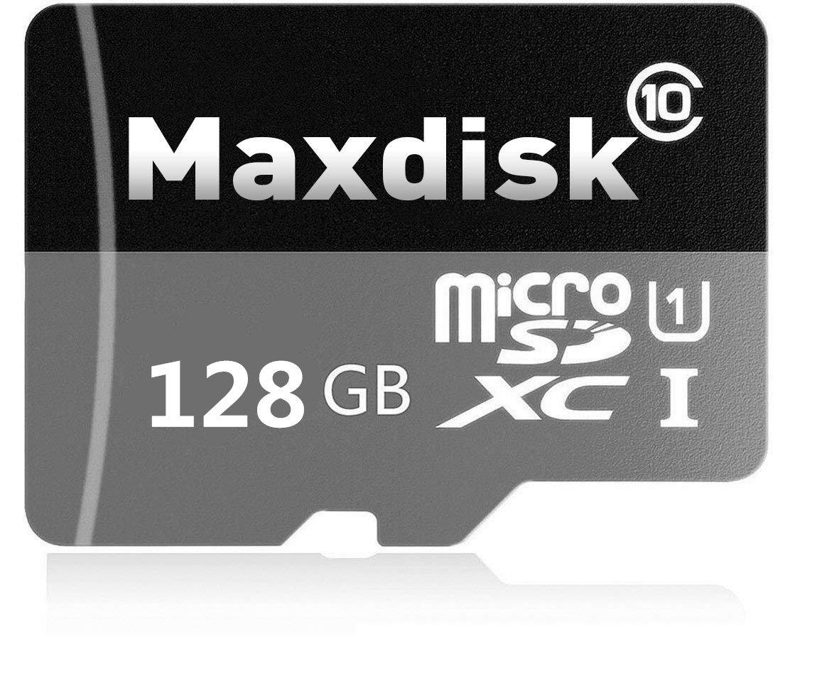 maxdisk 128 GB Tarjeta De Memoria Micro SDXC Class 10, para Smartphones y Tablets, (con Adaptador SD)