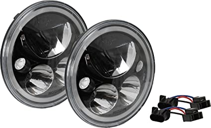 Vision X Lighting 9892443 Vortex LED Headlight; 7 In.; Round; Black Chrome
