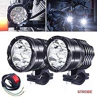 Faros Antiniebla LED Moto,40W Faros Auxiliares de Moto Faros Delanteros 12V 24V Largo Alcance Luces de trabajo 3600LM…