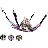 Ecosco Cat Hammock Bed Hanging Pet Perches Bed for Cats Small Dogs Rabbits Small Animals (Brown Leopard)