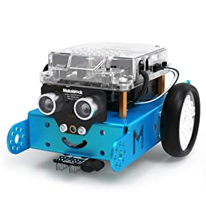 Makeblock mBot Robot Kit, DIY Mechanical Building Blocks. Entry-Level Programming Helps Improve Children's Logical Thinking and Creativity Skills. STEM Education. (Blue, Bluetooth Version, Family)